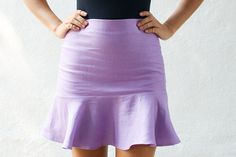 DIY fluted flared hem skirt