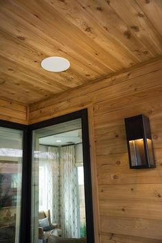 Along with every room in the HGTV Smart Home 2015, the screened porch is equipped with a built in sound system perfect for relaxing or entertaining.