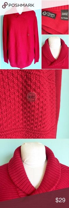 NWOT 100% Cotton Blood Red Cable Knit Sweater Beautiful Plus Size Cable Knit Sweater by Chaps, size XXL. NWOT. Check out my closet, bundle and give me your offer! 💚 Chaps Sweaters