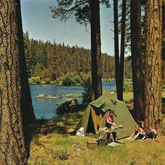 themcgovernresidence: Camping on the Metolius River near Sisters, Oregon Ray Atkeson © 1968 --campvibes Camping Life, Camping And Hiking, Camping Gear, Camping Sauvage, Camping Aesthetic, Adventure Is Out There, Adventure Awaits, Van Life, The Great Outdoors
