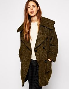 Enlarge ASOS Coat With Hood In Texture