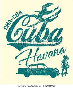 Havana Cuba Vector Art - 180001097 : Shutterstock