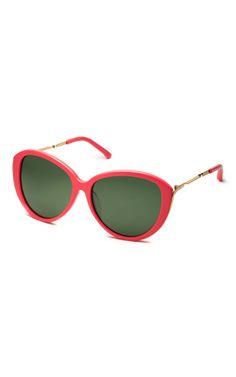 Shop Linda Farrow for Prabal Gurung Coral Sunglasses by Linda Farrow Sunglasses Now Available on Moda Operandi