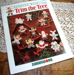 Trim The Tree Plastic Canvas Needlework Christmas by VintageTinsel