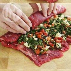 Rollo de carne de res con verduras @ allrecipes.com.mx