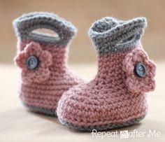 Repeat Crafter Me: Crochet Rain Boots