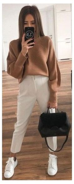 Dress Code Casual, Business Casual Dresses, Spring Work Outfits, Spring Outfits Women, Beige Pants Outfit, Dress Pants, Beige Hose, Outfits Mujer, Fashion Outfits