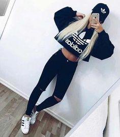 36+ Outfits con Ropa Adidas de Moda que te Encantarán (2018) f0a6ea85470
