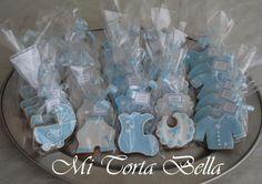 Galletas decoradas para Baby Shower de niño.