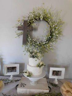 White lace communion party idea