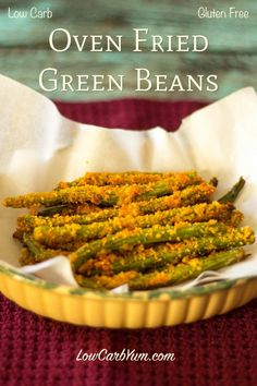 gluten free low carb oven fried green beans recipe
