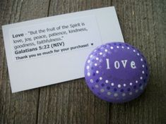 Love Bible Verse Stone Painted Rocks Christian by TLCHandcrafted