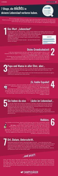 Infografik: Diese 7 Fehler solltest du in deinem Lebenslauf vermeiden