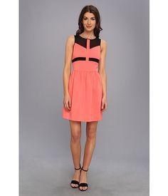 kensie Matte Couture Stretch Dress Grapefruit Combo - 6pm.com