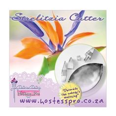 Strelitzia Flower Cutters  Visit us online to view more details on this product an more items  #cakedecorating #cake #sugarcraft #hostessprosugarcraft #katysue www.hostesspro.co.za