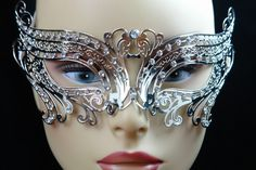 Silver Metal Venetian Birds Eye Mask - Possible mask for masquerade ball in August