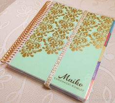Third Culture Wife: So Nice, I Bought it Twice: Erin Condren 2014-2015 Life Planner in Gold and Spearmint #eclifeplanner14