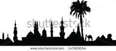 silhouette skyline egypt - Google zoeken
