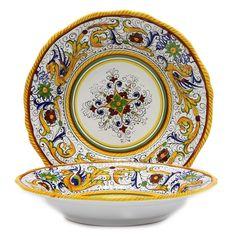 Moroccan Spanish Medium glazed ceramic bowl Salad Pasta Soup Stew Red 10 inch