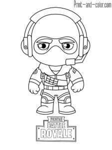 Fortnite Battle Royale Coloring Pages Free Blake