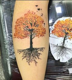 Forarm Tattoos, Time Tattoos, Body Art Tattoos, Tatoos, Maple Tree Tattoos, Tree Roots Tattoo, Tree Tattoo Designs, Tattoo Design Drawings, Claddagh Tattoo