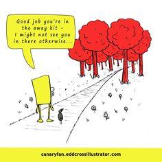 Canary Fan Norwich City Football Club inspired cartoons