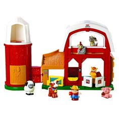 We got this Fisher Price Farm for Clark's birthday :)