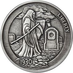 Hobo Nickel Series Graveyard Shift 1 oz Silver Antiqued Round USA Made Coin Hobo Nickel, Gold Coin Values, Graveyard Shift, Eagle Design, Metal Clay Jewelry, Gold Bullion, Silver Eagles, Nickel Silver, Silver Rounds