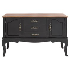 Awash in a rich espresso finish and featuring a classic cabriole-inspired design, this elegant buffet is the perfect addition to your dining room or den.
