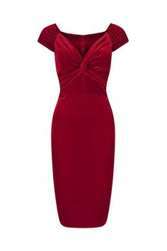 Vintage 1940s Red Velour Crossover Wiggle Dress 1940s Dresses, Dressy Dresses, Vintage Style Dresses, Lace Dresses, Club Dresses, Xmas Party Dresses, Pageant Dresses, Online Dress Shopping, Shopping Sites