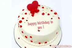 Lovely Chocolate Birthday Cake With Name