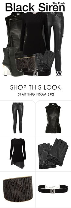 """""""The Flash / Arrow"""" by wearwhatyouwatch ❤ liked on Polyvore featuring Frame, W118 by Walter Baker, Phase Eight, Karl Lagerfeld, Tom Binns, Kenneth Jay Lane, Cape Robbin, television and wearwhatyouwatch"""