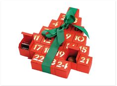 """Advent Calendar """"Tree"""" Holiday Gift Guide, Holiday Gifts, Holiday Decor, Tree Shapes, Advent Calendars, Inspirational Gifts, Craft Items, Food Pictures, Drinking"""