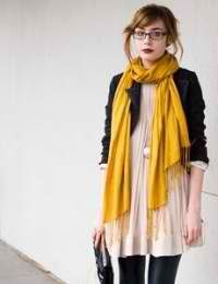 Geek chic 101: must have scarves in every color and pattern.