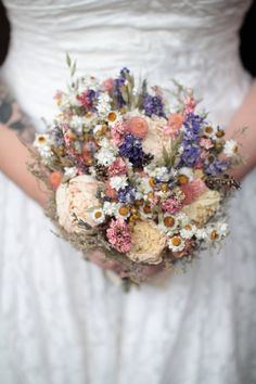 Hey, I found this really awesome Etsy listing at https://www.etsy.com/listing/230235255/spring-wildflower-bridal-bouquet-pink