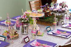 Guest Tablescape from a Girl Themed Lego Party via Kara's Party Ideas | KarasPartyIdeas.com (18)