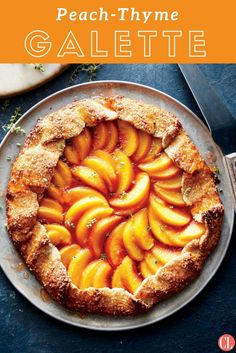 Rustic, free-form edges give this dessert a beautiful look. The crust is made with whole-wheat pastry flour, which is finely milled and thus perfect for pastries. Click the link in our bio and select this image for the full recipe: Peach-Thyme Galette Almond Recipes, Pie Recipes, Baking Recipes, Dessert Recipes, Baking Hacks, Grill Recipes, Fruit Recipes, Delicious Desserts, Recipies