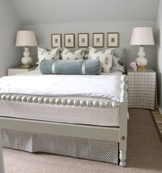 Bed skirt and side tables