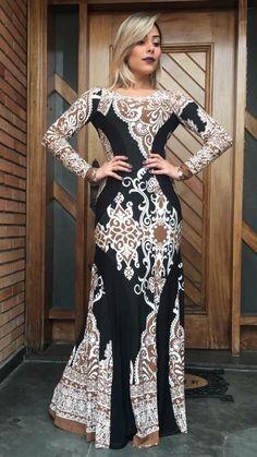vestido longo cinturado estampas lindas instagran
