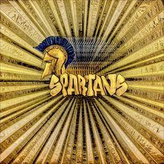 Spartan - HSHS Visual Arts Wallpaper - D Milano Design - dmd, November 2014 - Holy Spirit High School - graphic illustration: Burst of Spartan Gold