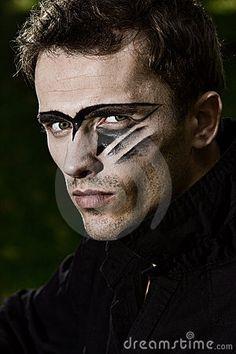 conceptual male makeup - Google Search