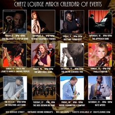Here's what's happening at Chayz Lounge this month. Tickets for all shows are available at ChayzLounge.com.