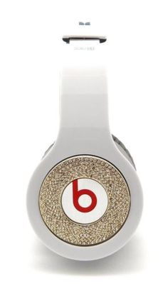 GOLD BLING ICE SKIN COVER FOR BEATS BY DRE MONSTER SOLO HD HEADPHONE ACCESSORY