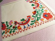 SALE OFF Beautiful Hungarian Traditional kalocsai flower motif paper napkin serviette set pack Hungarian Embroidery, Folk Embroidery, Paper Napkins, Sale 50, Traditional, Ethnic Style, Flowers, Pattern, How To Make