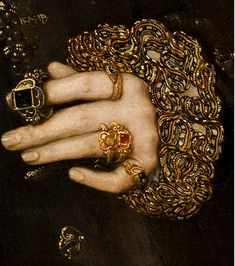 Hans Eworth, Mary Neville, Lady Dacre wife of Gregory Fiennes, Baron Dacre 1559 detail Classical Art, Detail Art, Renaissance Art, Renaissance Paintings, Painting & Drawing, Painting Portraits, Figure Painting, Art Inspo, Art History