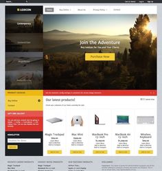 Lexicon Responsive Magento shop theme is centered around a flat design approach, spruced by professional and engaging color schemes to create presence for site