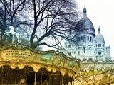 Carousel 18th century - Sacré-Cœur Basilica - Montmartre - Paris - France Photographic Print by Philippe Hugonnard at AllPosters.com