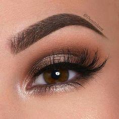Eyeshadow, Eye Makeup Inspiration, - Best Make-Up Holiday Makeup Looks, Makeup Eye Looks, Makeup For Brown Eyes, Skin Makeup, Eyeshadow Makeup, Make Up Brown Eyes, Brown Makeup Looks, Eyeshadows, Brown Eyes Eyeshadow