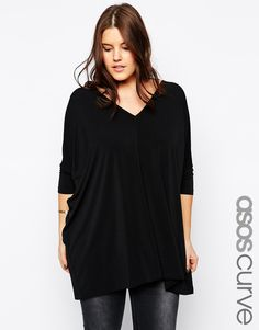 ASOS CURVE at Asos Oversized Top in Crepe