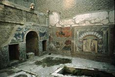 Herculaneum. We visited Pompeii, and much of it was removed. But this city, also hit by Vesuvius, is largely still intact.
